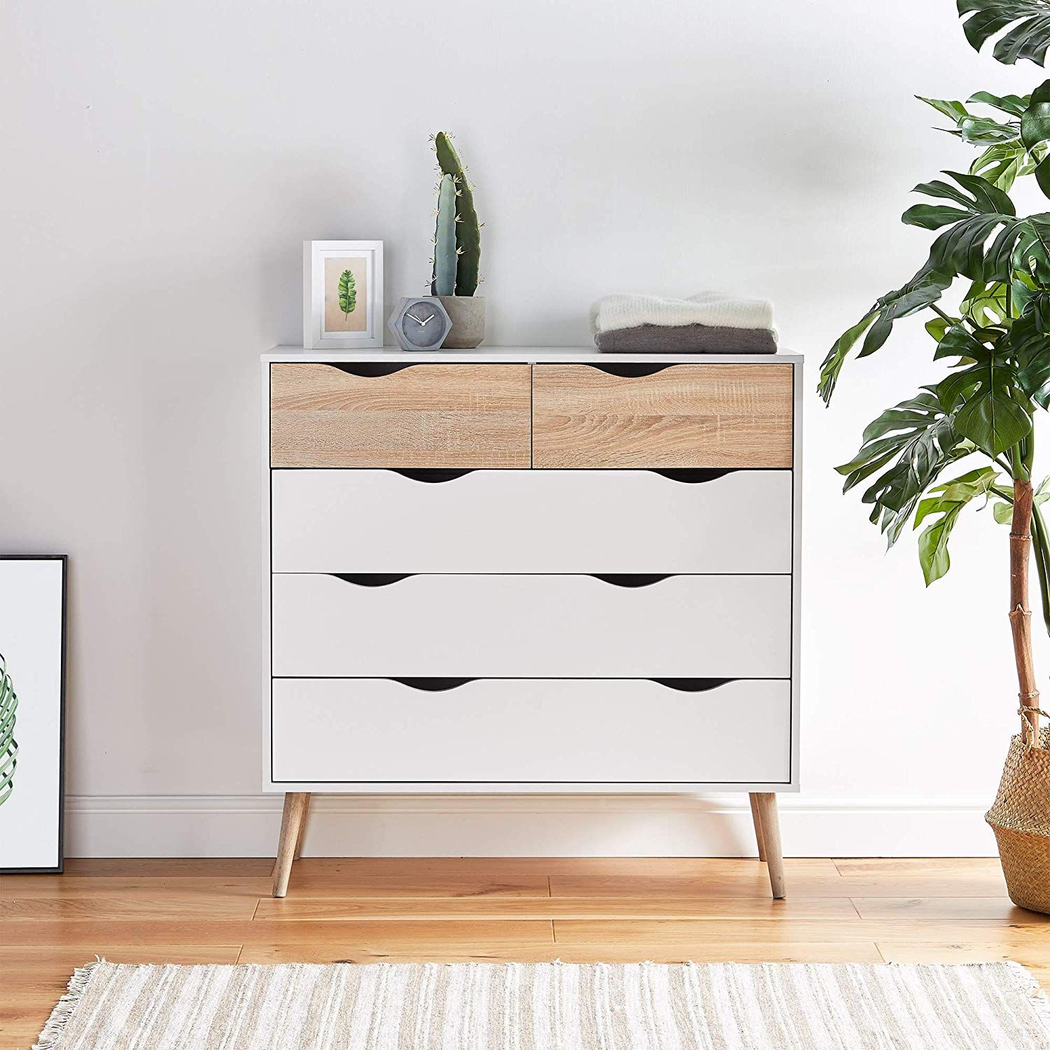 Chest Of Drawers In 2020 Oak Bedroom Furniture White Oak Furniture Scandinavian Chest Of Drawers