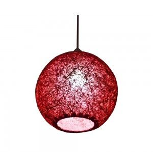Where To Buy Lamp Shades Glamorous Maroon Hanging Ball Lamp Shades Yarn With Banana Fiber  Home Inspiration