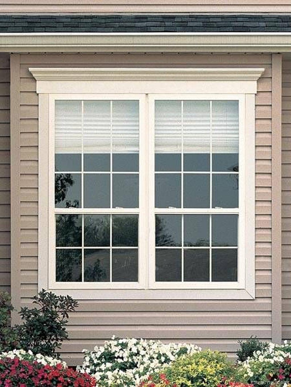 Adorable 109 Modern Window Trim Design Ideas Https Lovelyving Com 2018 02 08 109 Modern Window Trim Desig Window Trim Exterior House Windows Windows Exterior