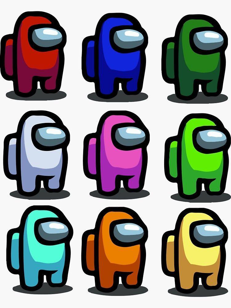 Among Us All Characters Sticker Di 2020 Gambar Serigala Kreatif Sketsa