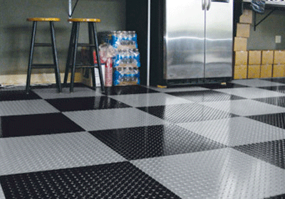 Diamond Tread Garage Tiles