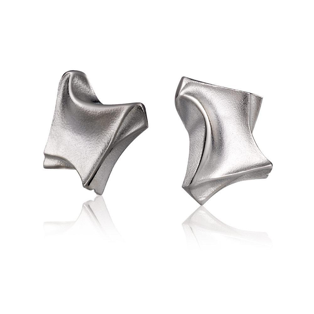 MINI PUNK  Design Björn Weckström / Silver Earrings / Lapponia Jewelry / Handmade in Helsinki
