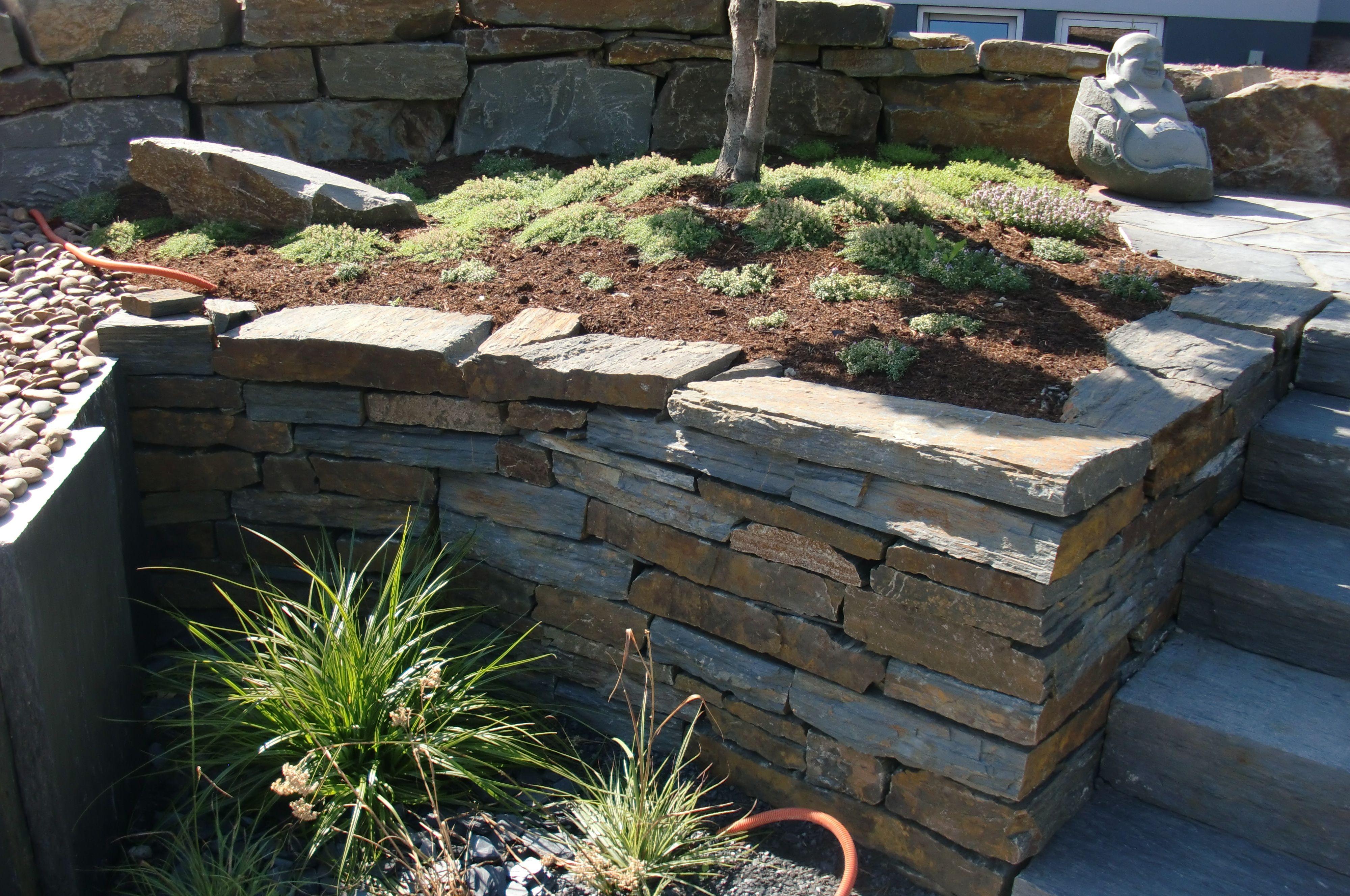 Garten ▫ Terrasse ▫ Außengestaltung ▫ Mauer ▫ Trockenmauer ...