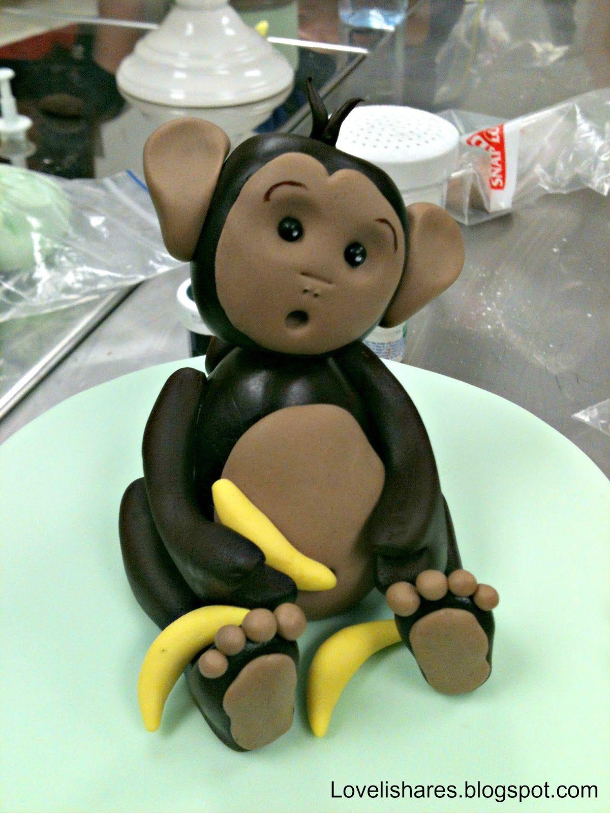 Fondant monkey cake topper monkey cake fondant monkey
