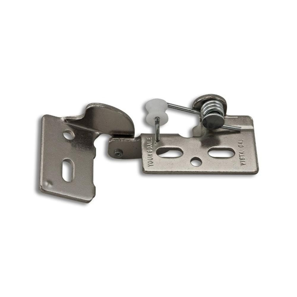Youngdale Chrome 5 1 4 In Overlay Non Wrap Self Closing Hinge 54 105 02 Self Closing Hinges Inset Hinges European Hinges