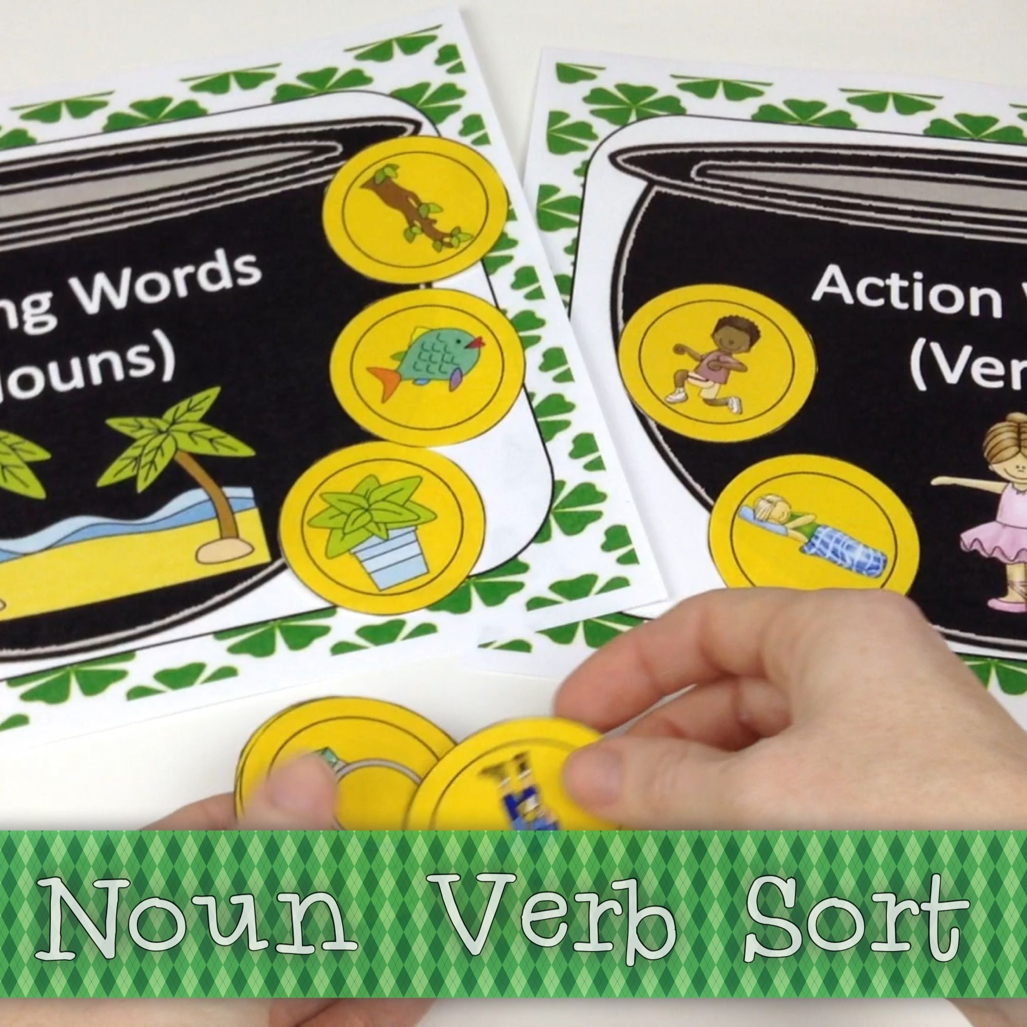 Noun And Verb Sort Freebie By The Fun Factory