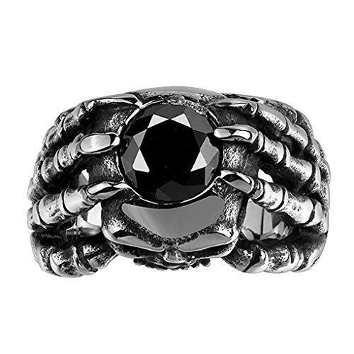 Men's Stainless Steel Rings Skull Hand Gothic Vintage Biker Available Size 891011 [MR.TIE] Fashion Rings
