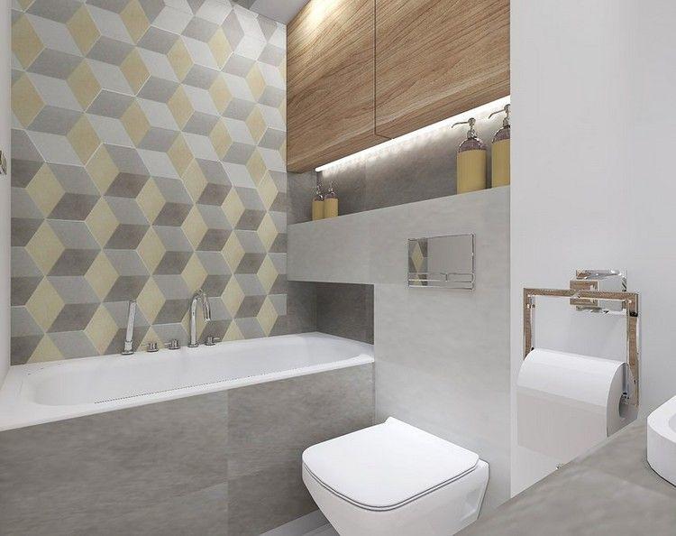 kleines bad in grau und gelb - led leisten | bäder | pinterest | led, Hause ideen