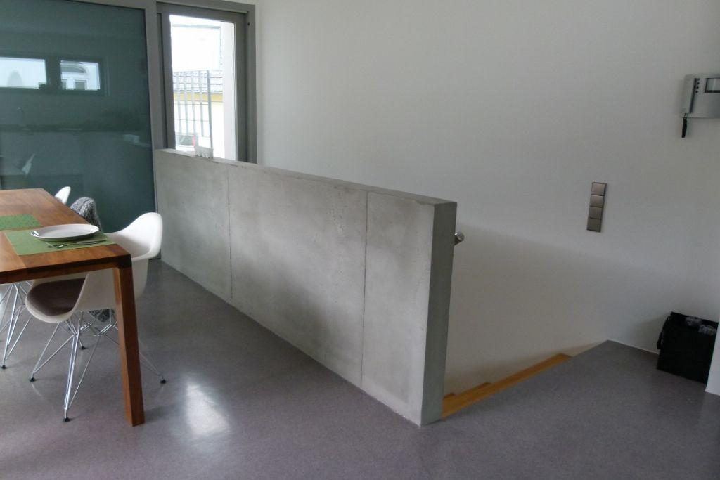 eine br stung in betonoptik betonoptik zur wandgestaltung pinterest. Black Bedroom Furniture Sets. Home Design Ideas