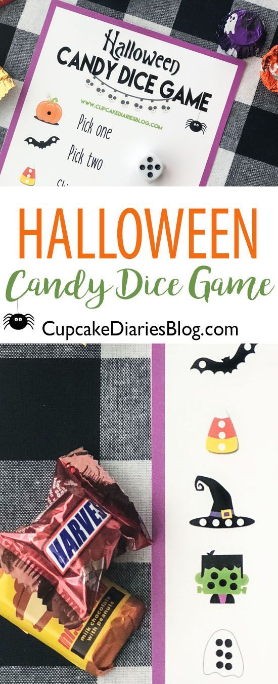 Halloween Candy Dice Game Halloween games for kids, Fun