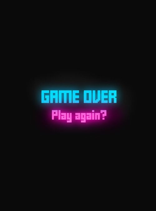 neon_light_it_up | Game Over! Play again? | LUCKY HALL // OLD