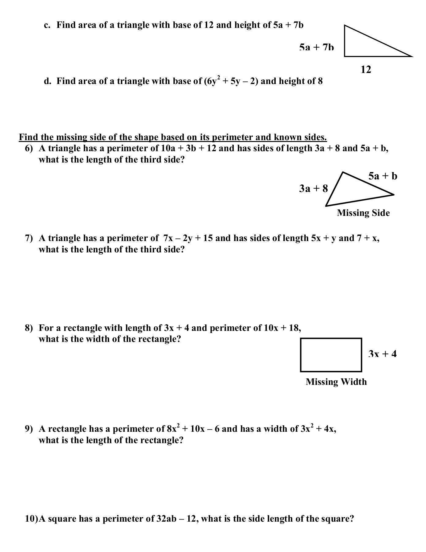 20 Adding Subtracting Polynomials Worksheet Esl