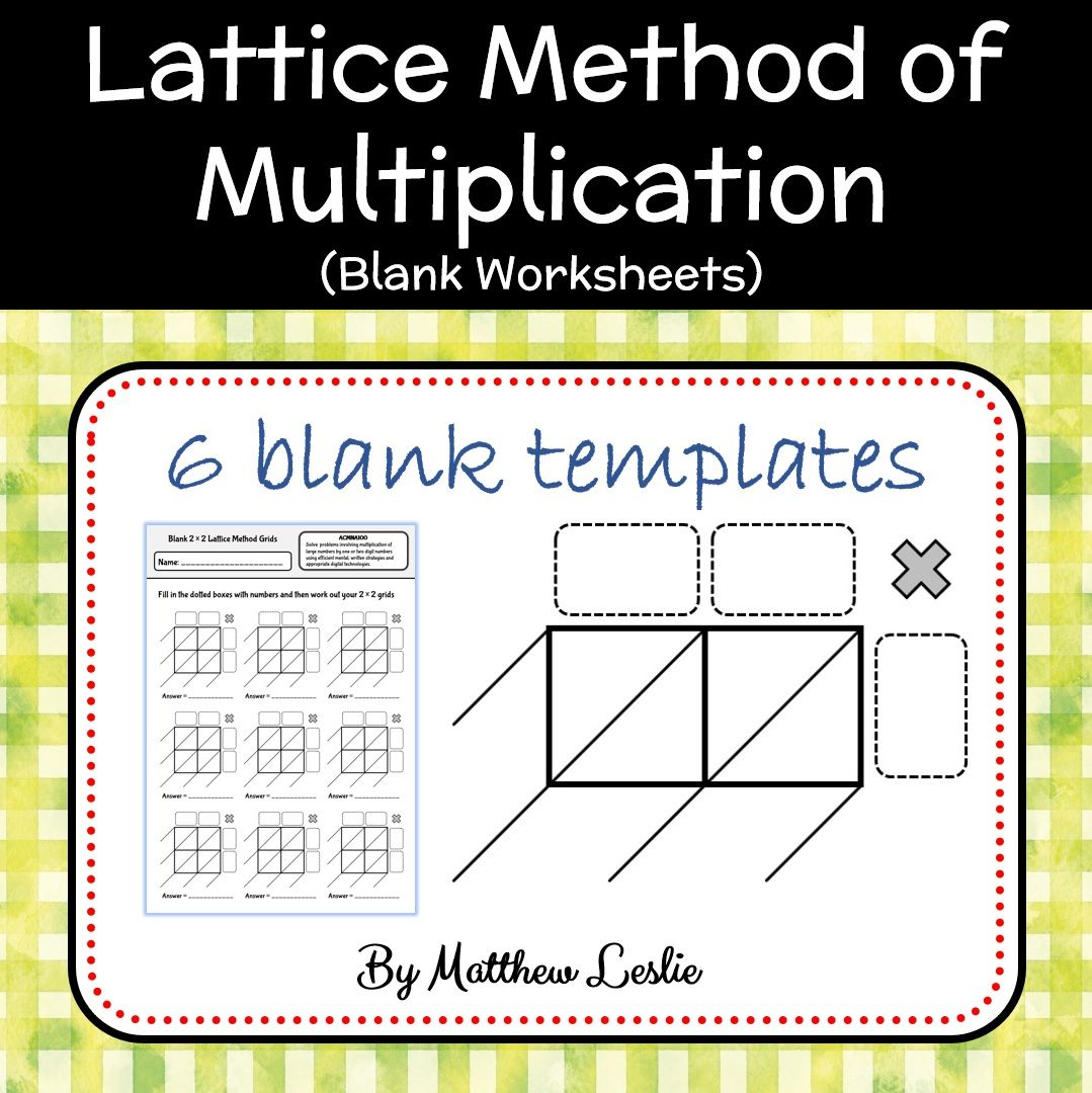 Predownload: Blank Worksheets For The Lattice Method Of Multiplication Lattice Method Lattice Method Of Multiplication Multiplication [ 1080 x 1079 Pixel ]