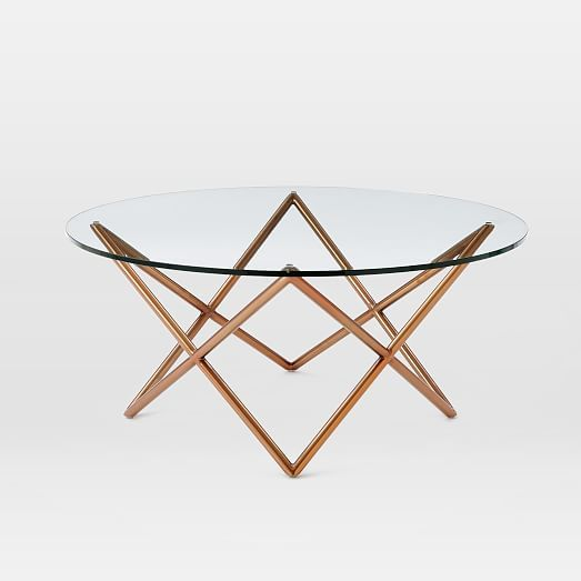 """Lounge 30""""dia Metal Spindle Coffee Table"""