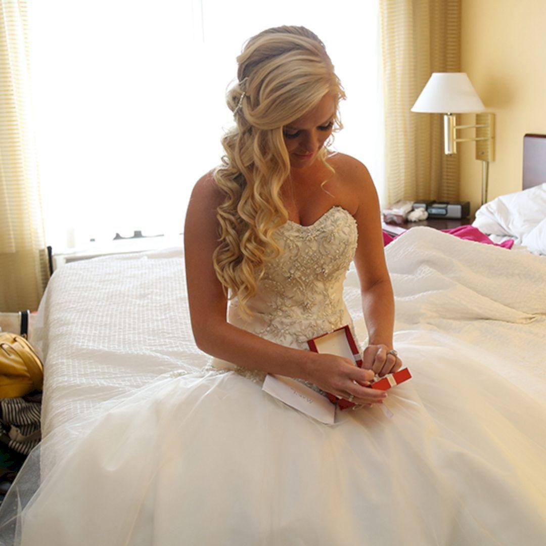 Stunning half up half down wedding hairstyles ideas no in