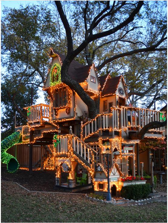xmas tree house