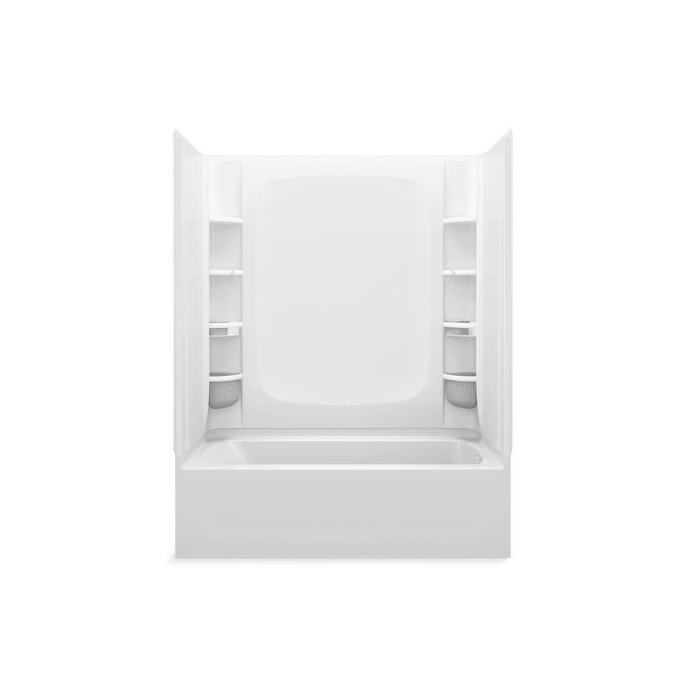 Sterling Store 5 Ft Right Hand Drain Rectangular Alcove Bathtub With Wall Set And 12 Piece Accessory Set In White 71171720 0 12 Bathtub Sterling Bathtub Shower Systems
