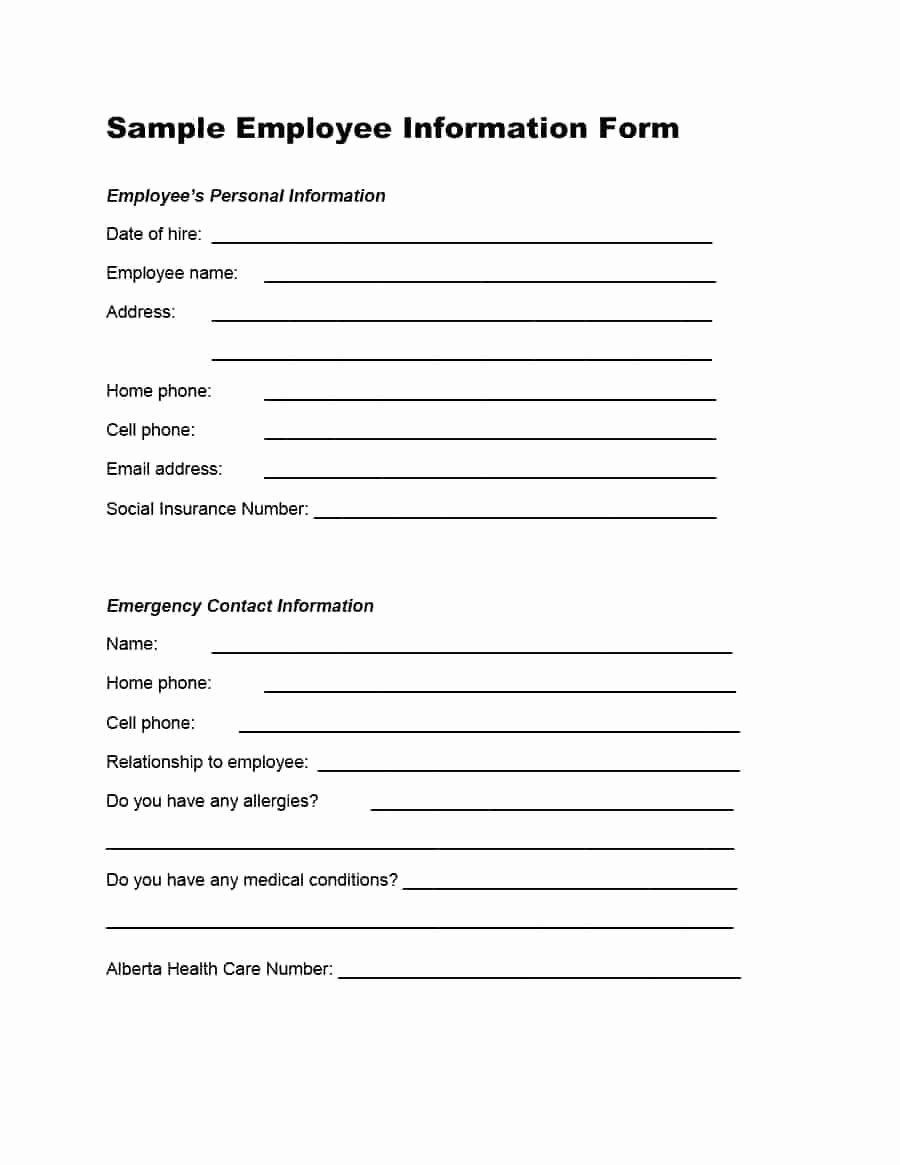 Employee Contact Form Template Best Of Template Employee Emergency Contact Information Template Emergency Contact Form Contact Card Template Emergency Contact