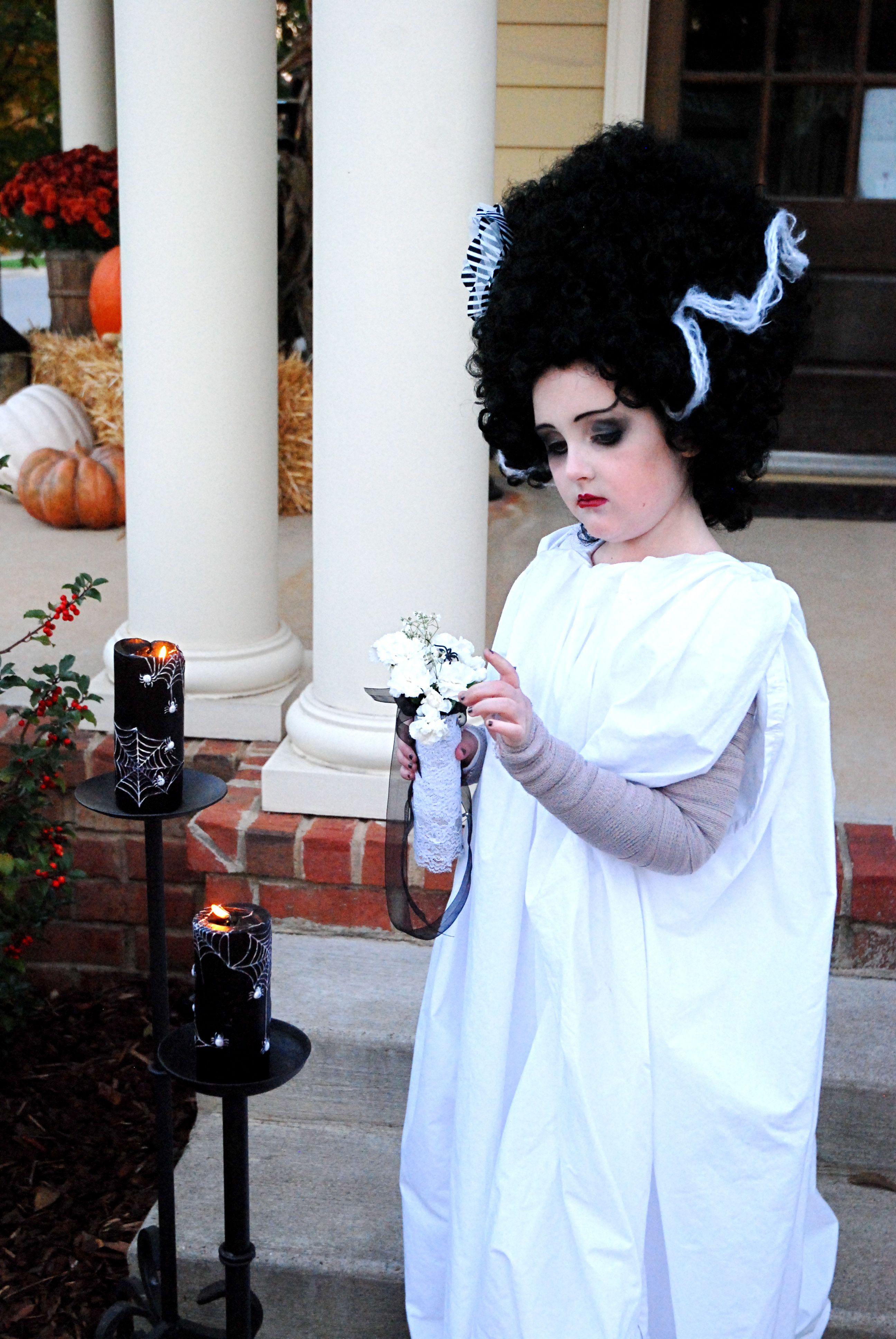 Dyi Martha Stewart Costume Bride Of Frankenstein Bride Of Frankenstein Costume Frankenstein Costume Diy Toddler Frankenstein Costume