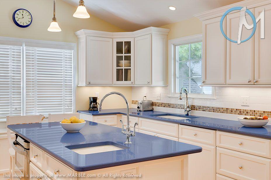 G6 Bahama Quartz With Round T B Edge In Kitchen Photo Gallery Blue Kitchen Countertops Blue Countertops Kitchen Design