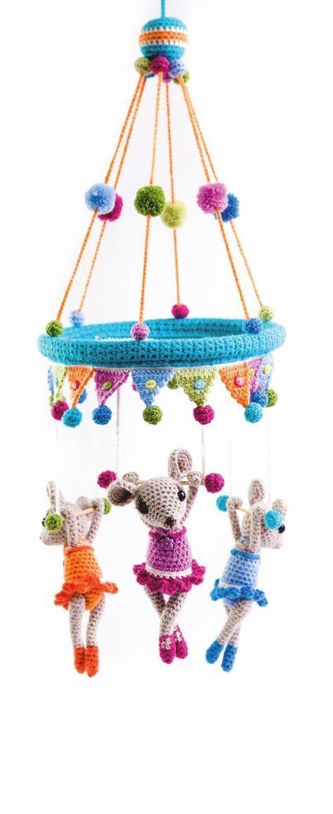 Das Trapez-Trio als Kinder-Mobile | Häkelideen | Pinterest | Kinder ...