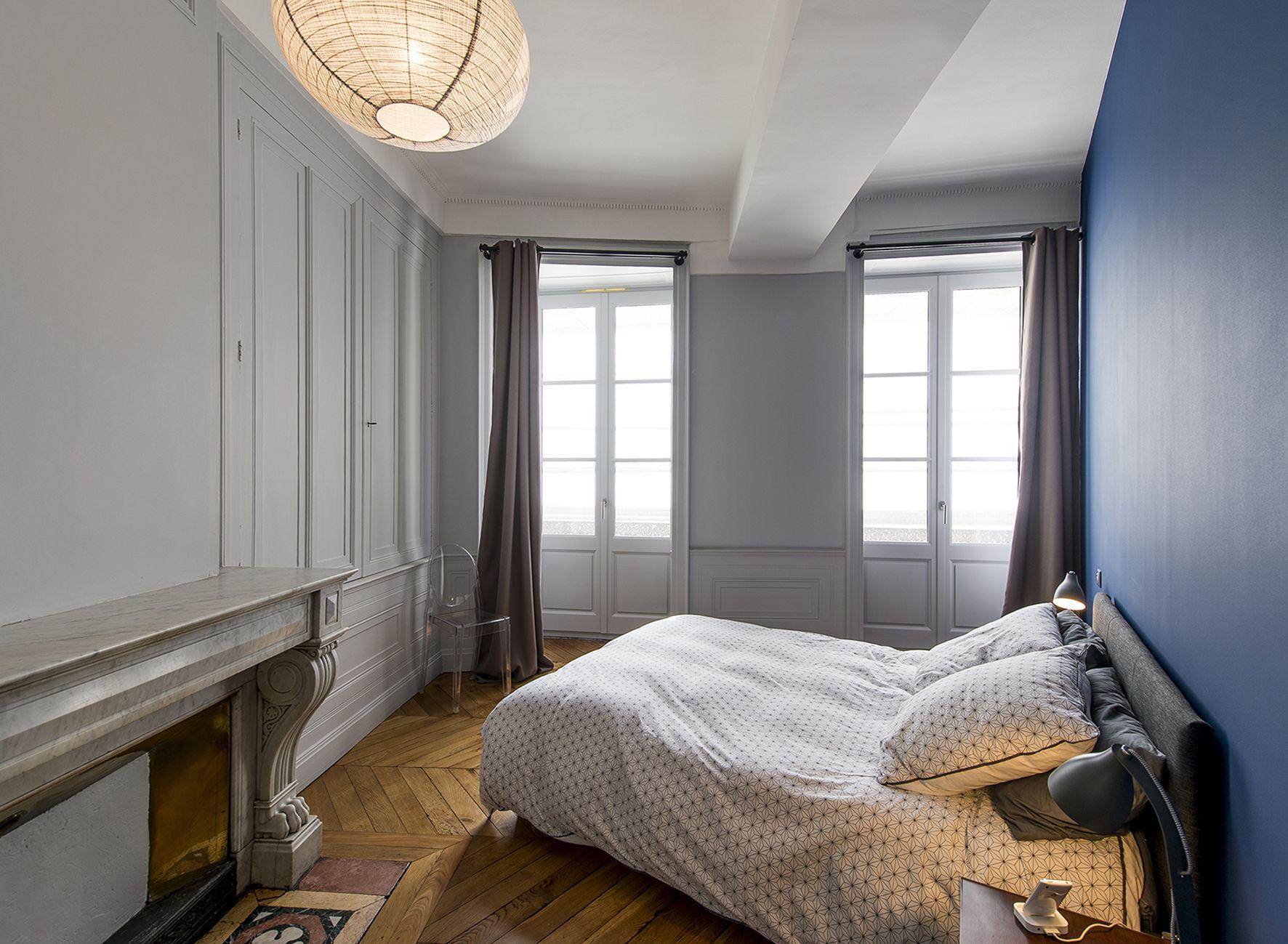 Salon Contemporain - Style Contemporain - Marbre Blanc - Porte ...