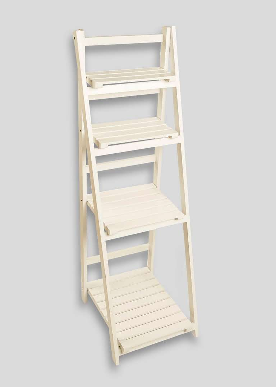 Slatted Bathroom Shelving Ladder Unit (125cm x 45cm x 40cm ...