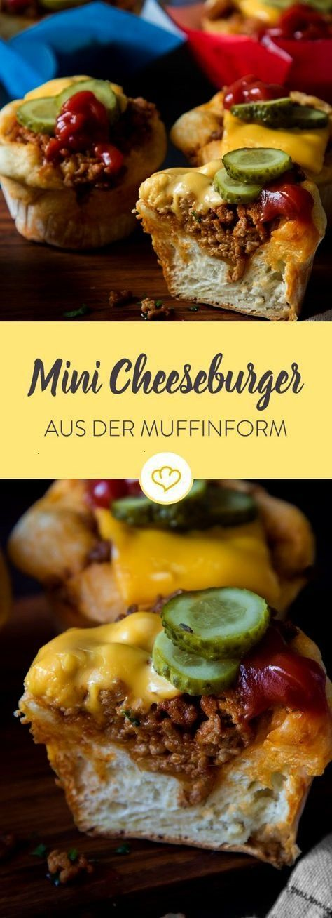 cheeseburger: the US classic made from muffin -  Make the US classic in the muffin form: just cover