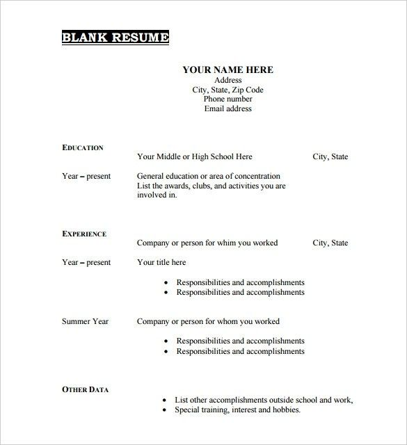 beautiful fill in resume template pdf idea