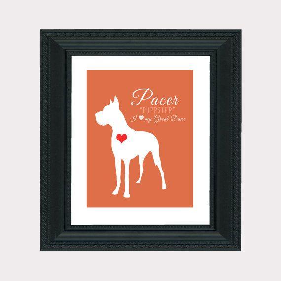 Custom Pet Art, Print, Silhouette, Puppy, Dog