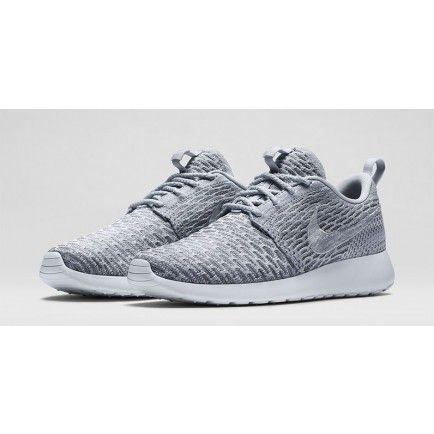 06ba185f6002 2015 Nike Roshe Run FlyKnit Womens Mens Gray Silver