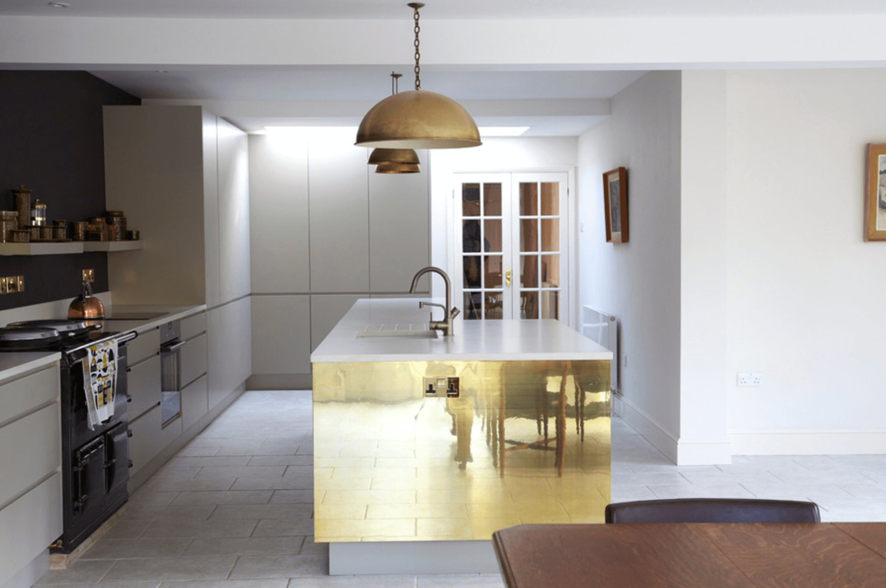 Gold Kitchen Island | Modern Kitchen | Pinterest | Bar