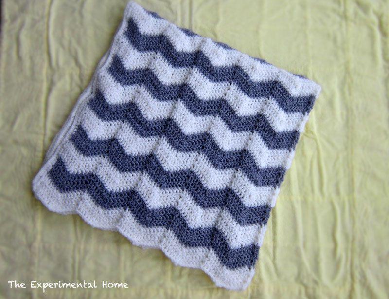 Chevron Crochet Baby Blanket | Stricken und Häkeln
