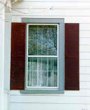 All about exterior window shutters oldhouseguy blog emily 39 s new house pinterest vinyl for Vinyl vs wood exterior shutters