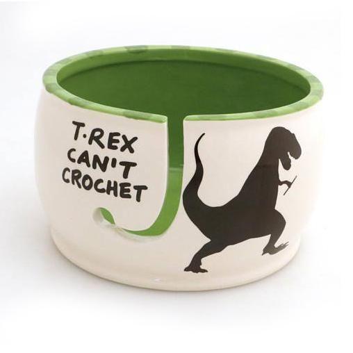 T Rex Can't Crochet - Crochet Bowl #crochetbowl