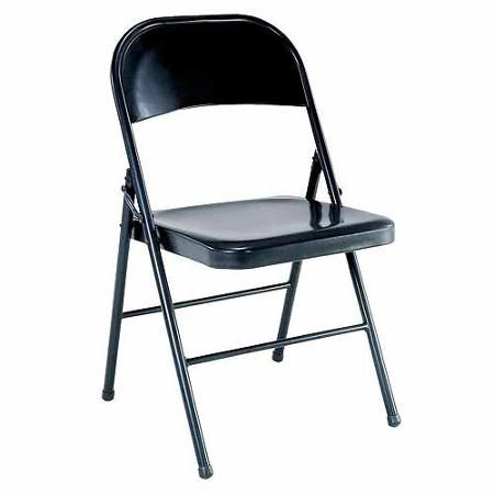 Mainstays Steel Chair, Black $10 Walmart - guest seating