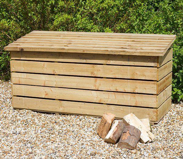 Etonnant Wooden Logs Storage Chest