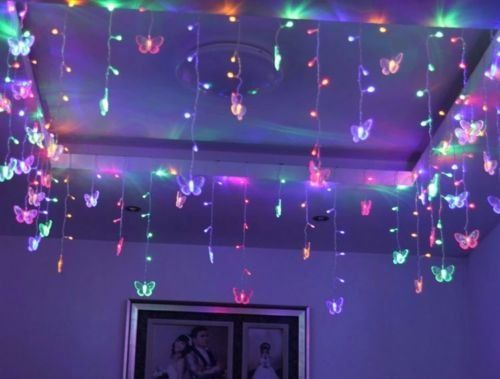 Blacklight String Lights Entrancing Blacklight Party Decorations Multi 35M 100Smd Butterfly Led String Decorating Design