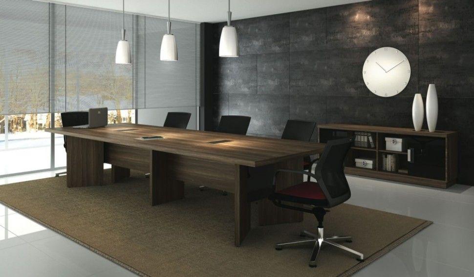 Mesa de reunião e balcão Credenza - Linha Boss - Móveis Arvy