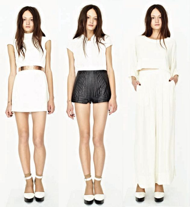 Copy Cat Fashion Black White Fashion White Mini Dress