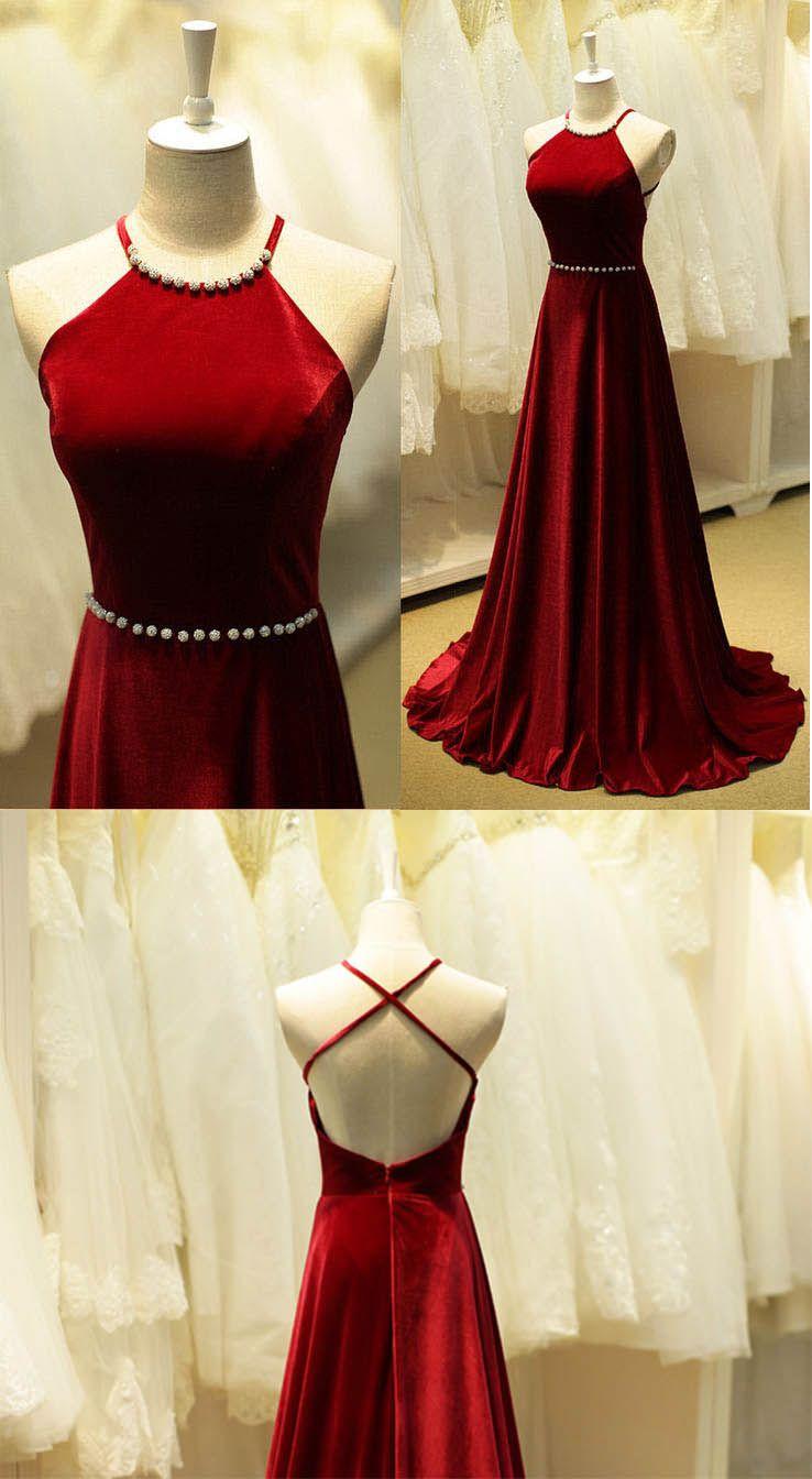 Halter prom dressesprom dresses backless prom dressred prom