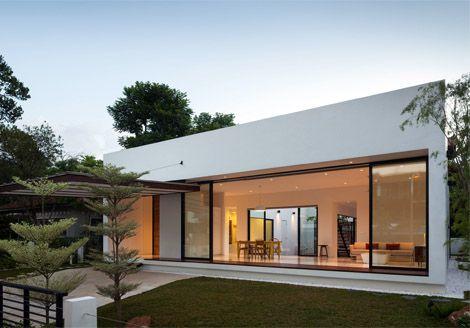 Single Storey Bungalow House Zainteriora Net Architecture House Courtyard House Luxury House Designs