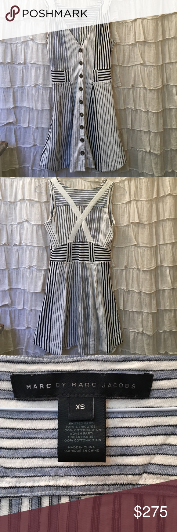 Marc Jacobs pleated dress Marc Jacobs pleated summer dress! Size Xs Marc Jacobs Dresses Midi