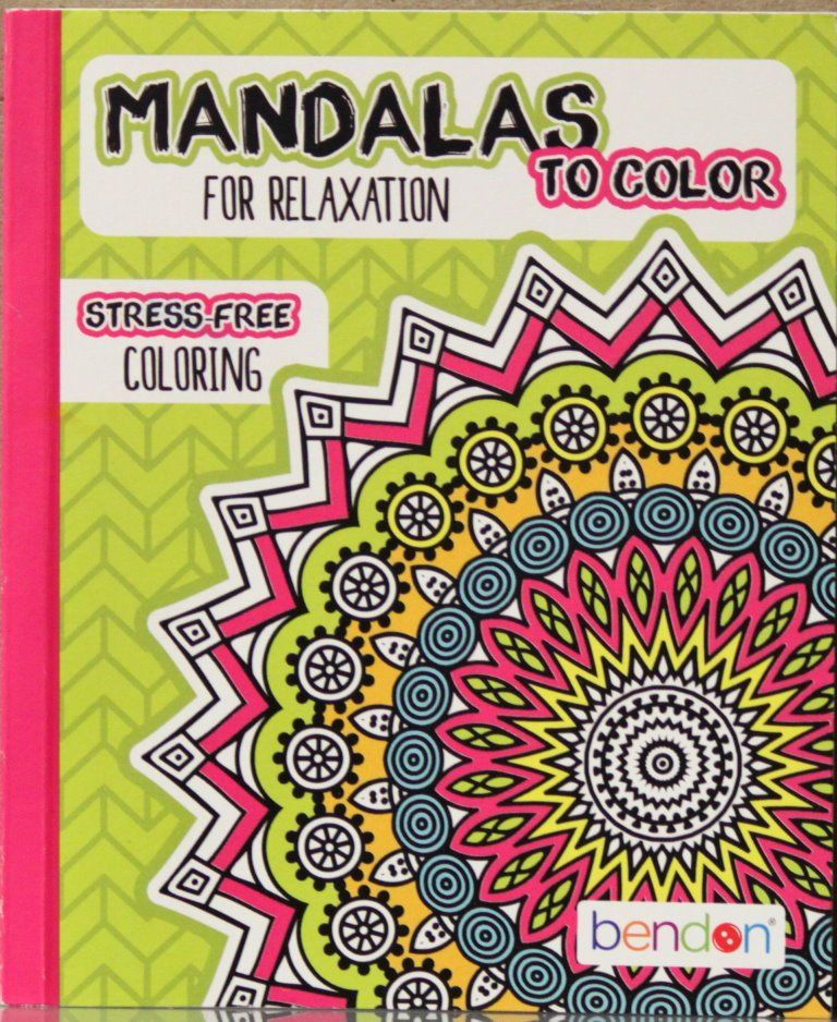 Bendon Mandalas To Color For Relaxation Coloring Book For Adults Is