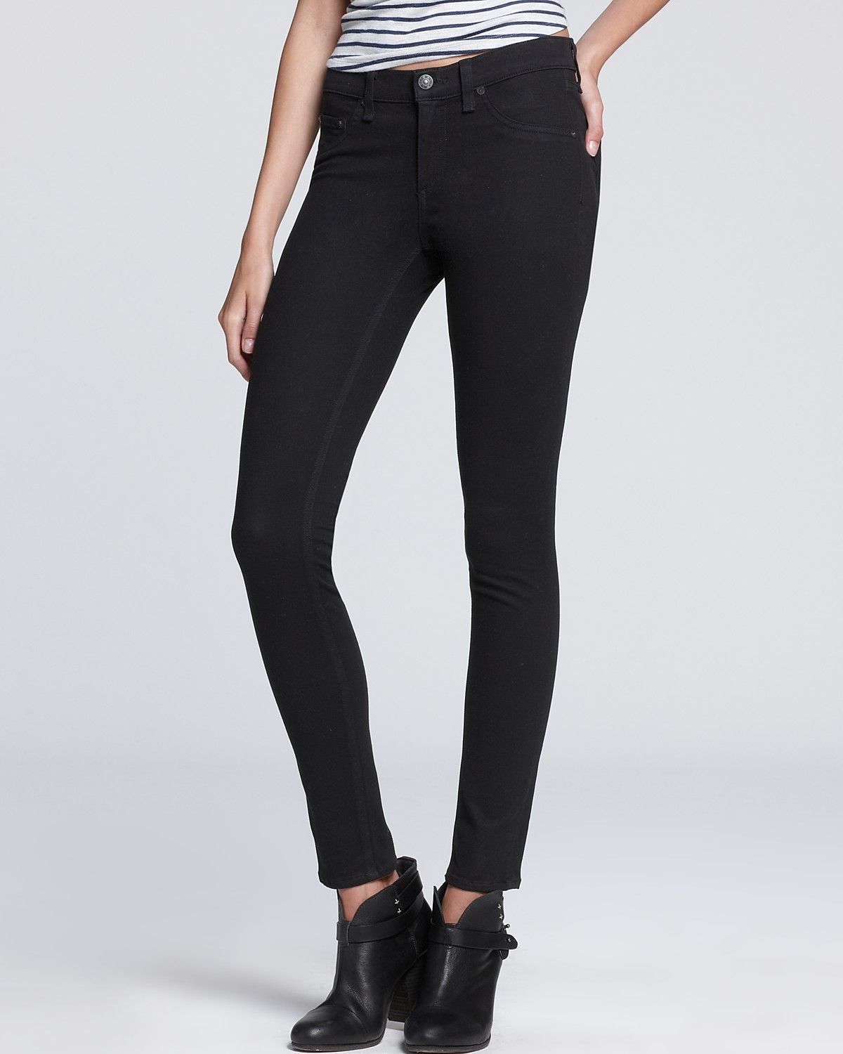 53988d3860a72e rag & bone/JEAN Leggings - The Mid-Rise Plush Twill | Bloomingdale's ...