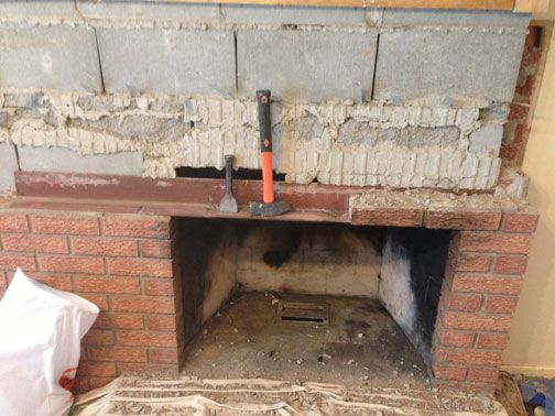 Removing Bricks From Fireplace Google Search Fireplace Remodel