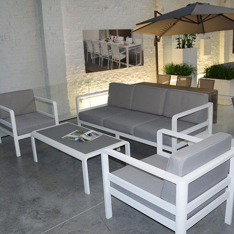 étourdissant salon de jardin gris et blanc | Décoration française ...