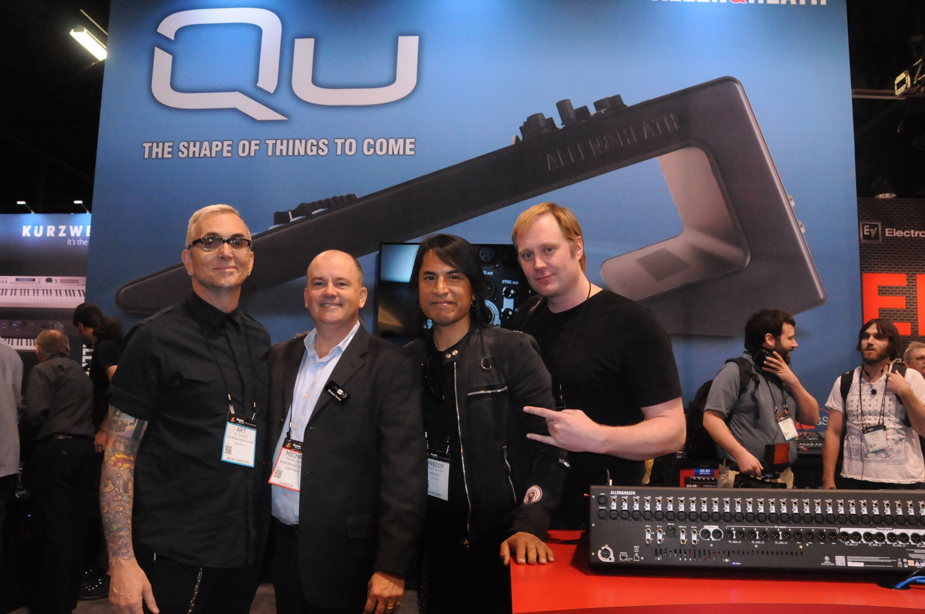 Members of the band Everclear made an appearance at the American Music and Sound booth during NAMM 2015 www.xibeo.com 805.604.4409