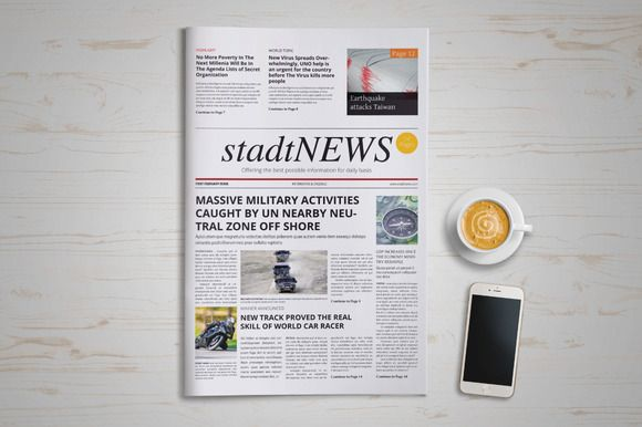 stadtNews Newspaper Template @creativework247