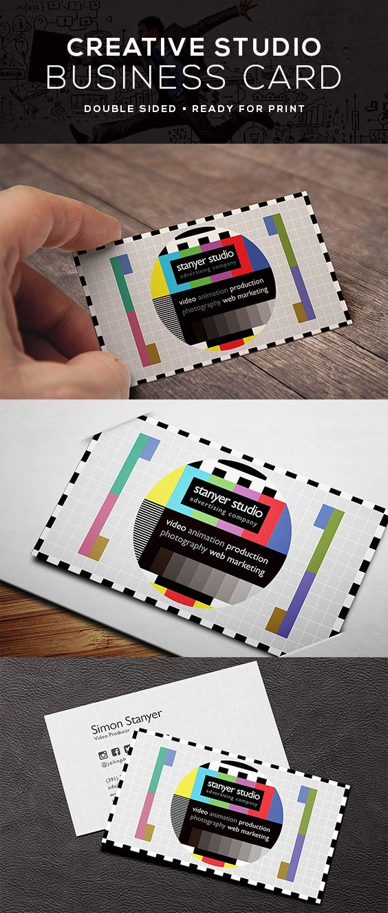 Video Producer Business Card Business Cards Creative Sophisticated Business Card Cards